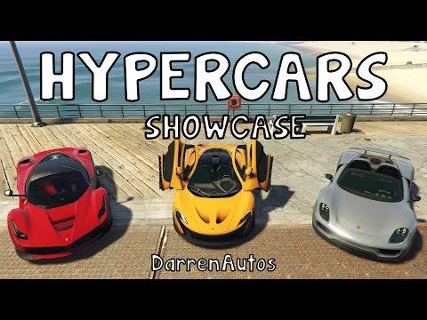Gta V Mods Hypercars Showcase Laferrari Youtube