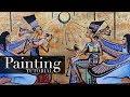 How to Paint Akhenaten & Nefertiti (The First Monotheistic Pharaoh) | Acrylic Painting  Tutorial