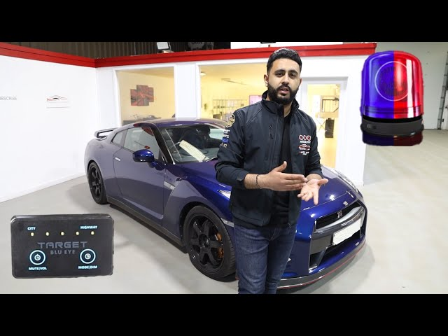 Nissan GTR | Target Blu Eye | Alerts You Of Marked & Unmarked Police Cars!