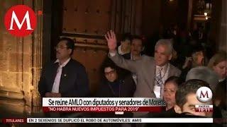 Se reune AMLO con diputados y senadores de Morena