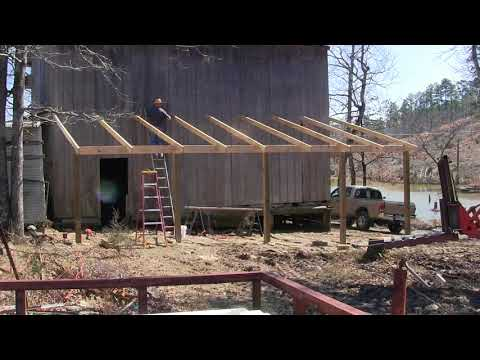 Time Lapse of Building a Lean To  on My Barn