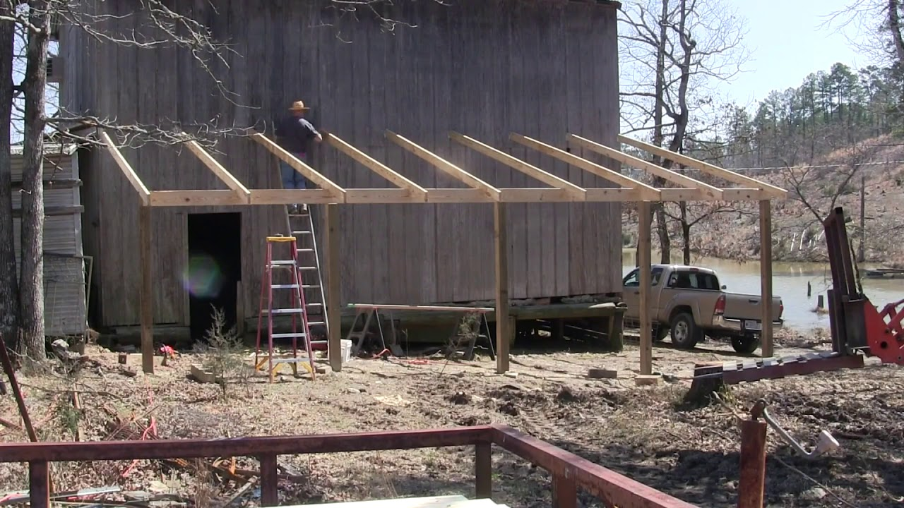 Building A Lean To On My Barn