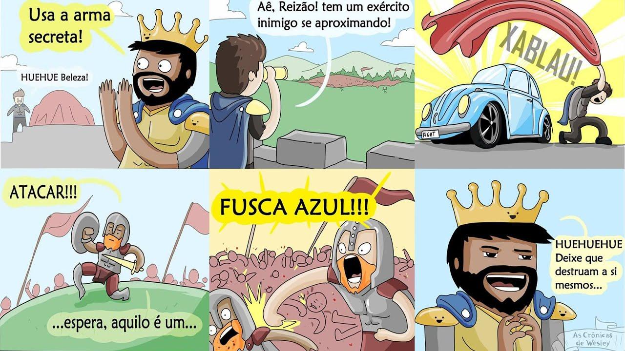 MEMES EM IMAGENS - FUSCA AZUUUUUL!! 🚘