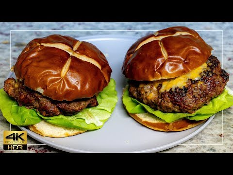 How to Cook The Perfect Hamburger on the Grill | 4k hdr