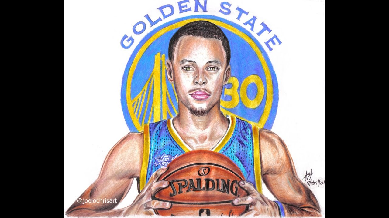 Drawing Stephen Curry Mvp 2015 And 2016 Nba Basketball