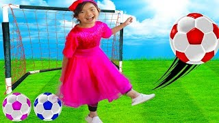 The Soccer Song Football Song | Toys And Colors Emma Pretend Play Nursery Rhymes & Kids Songs