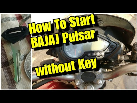 How To start BAJAJ Pulsar without key - YouTube