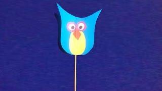 Как сделать сову из бумаги   How To Make Owls From  Paper