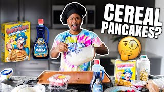 Making Capt Crunch Cereal Pancakes | Taste Test | Alonzo Lerone
