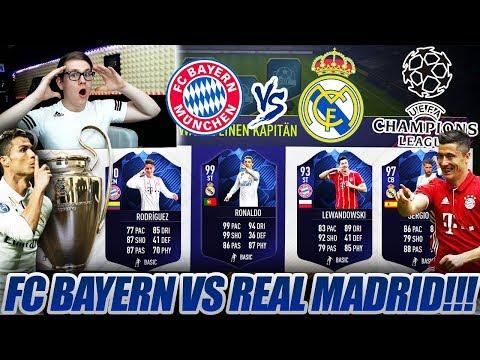 BAYERN MÜNCHEN vs REAL MADRID CHAMPIONS LEAGUE FUT DRAFT!! 🔥🔥 Fifa 18 Ultimate Team