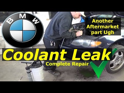 BMW 325i - Coolant leak Diagnose and Repair
