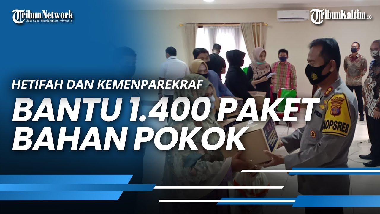 Hetifah dan Kemenparekraf Bantu 1.400 Paket Bahan Pokok