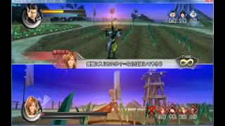 Sengoku Basara 3 Utage versus on emulator gameplay 01