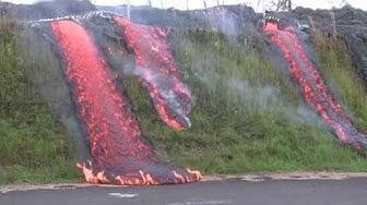 Lava flows in Pahoa - Eruption Update