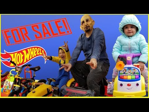 Funny kids pretend play SALE TOY CARS and Ride on Power Wheels || Jai Bista Show