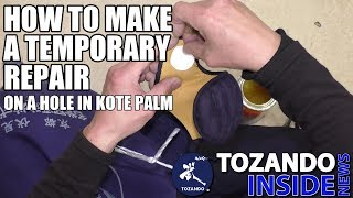 How to make Kote palm repair - New Kendo Kote TORA - Tozando Inside News #18