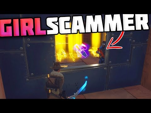 GIRL SCAMMER Gets SCAMMED For 10 130 GUNS!! *MUST SEE* - Fortnite Save The World