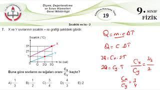 9.sınıf Meb Okul Kursu Fizik K.k.testi-19  Isı Ve Sıcaklık-2