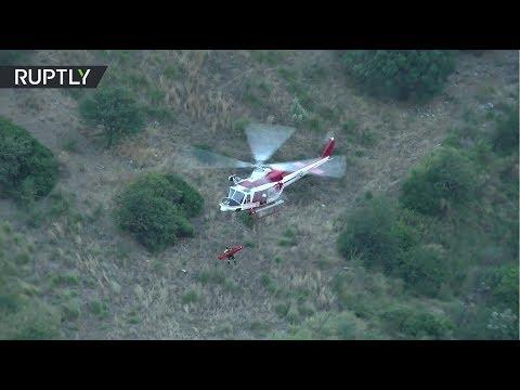 Видео спасения туристов из горного ущелья на юге Италии