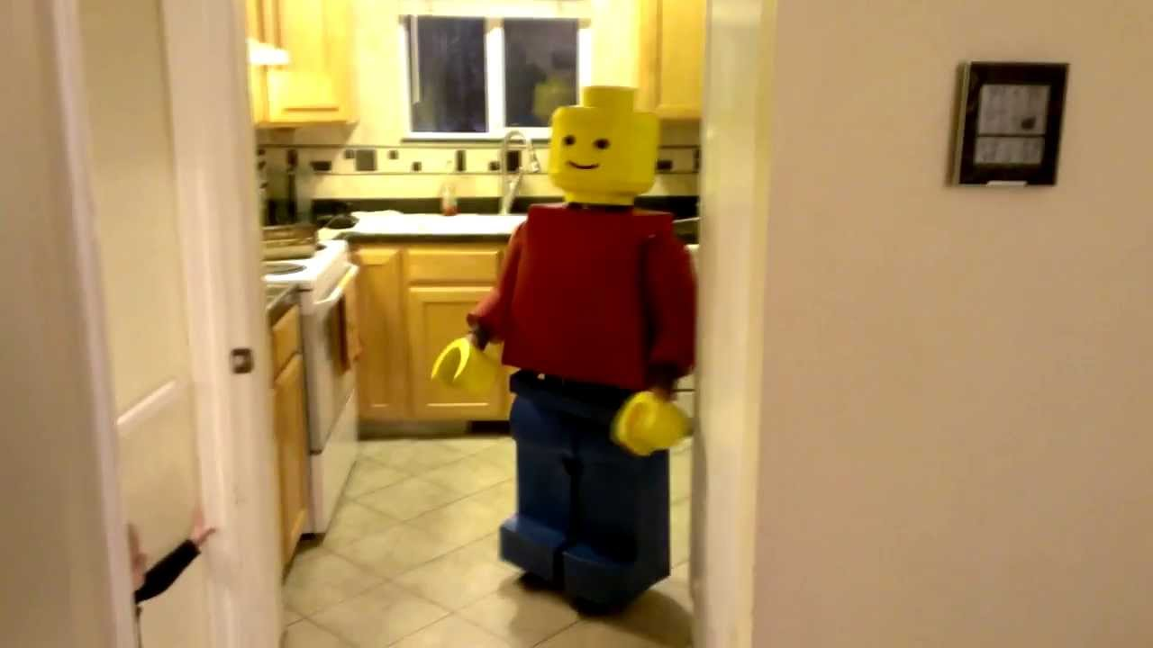 Homemade Lego Guy Costume & Homemade Lego Guy Costume - YouTube