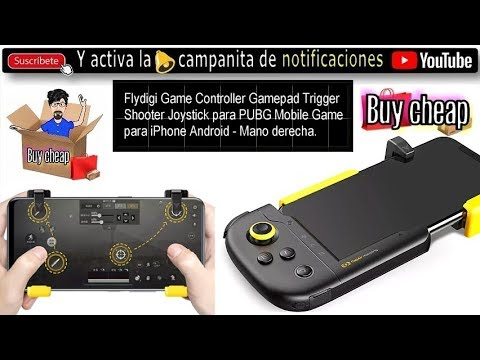 Nove Sanders Polveroso  Flydigi Game Controller Gamepad Trigger Shooter Joystick para PUBG Mobile  Game para iPhone Android - YouTube