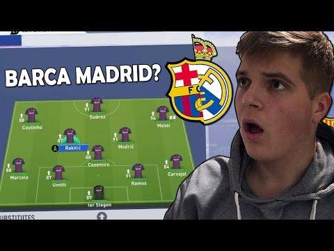 MOGU LI IGRAČI BARCELONE I REAL MADRIDA ZAJEDNO OSVOJIT LIGU PRVAKA!?  FIFA 19 EXPERIMENT #2