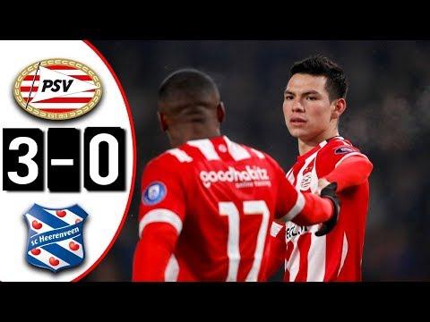 PSV Eindhoven vs Heerenveen 3-0 Goles & Resumen | DOBLETE Y ASISTENCIA DE 'CHUCKY' LOZANO | 2018 HD