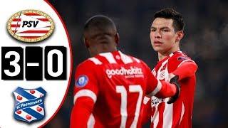 PSV Eindhoven vs Heerenveen 3-0 Goles & Resumen   DOBLETE Y ASISTENCIA DE 'CHUCKY' LOZANO   2018 HD
