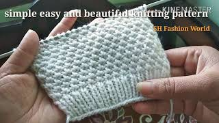 Simple easy and beautiful knitting pattern for gents and ladies sweater in Hindi English subtitles