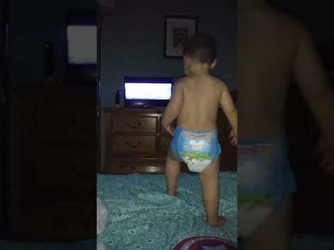 Grandson Doesn't Want to Go to Bed. So What Does He Do? Bounce.... Its a Baby's World 🌎