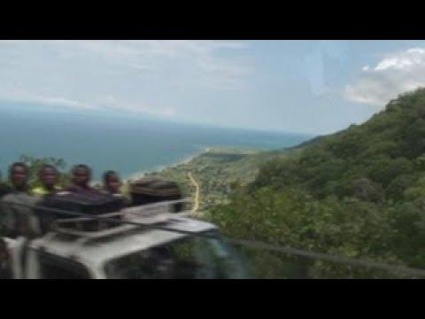 Overland Trucking Through Mountains to Lake Malawi Africa