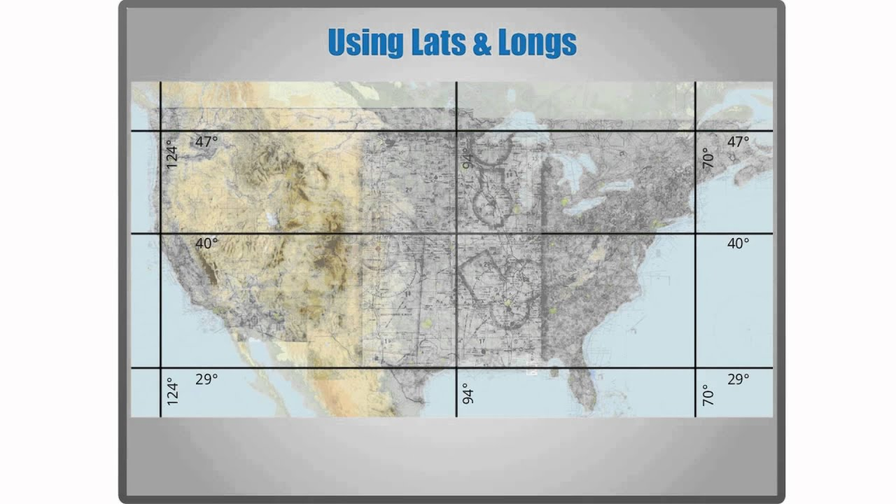 Sectional Charts Latitude And Longitude YouTube - Map with latitude and longitude represented as parallel