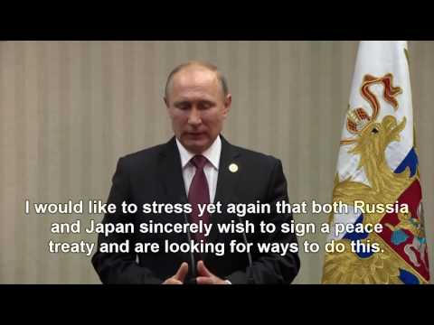 Putin on the Kuril Islands at APEC summit: There