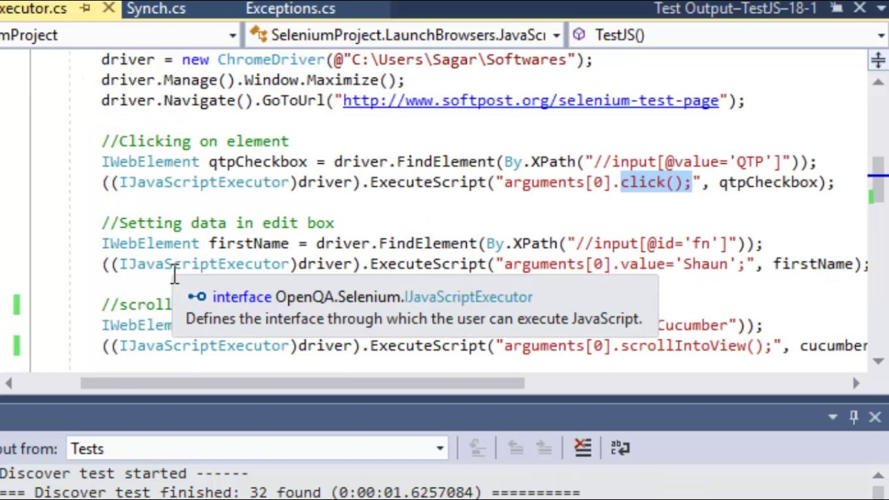 Lecture 15 - JavaScriptExecutor in Selenium in C# Net