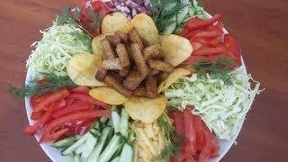 Салат Огород. Все виды салатов в одном. Быстро и красиво.