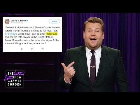 James Corden looks at the latest headlines, notably President Donald Trump raising $100m for his reelection campaign, Trump\'s gloating tweet about his lawsuit victory over Stormy Daniels, and possible beer shortages due to climate change.  More Late Late Show: Subscribe: http://bit.ly/CordenYouTube Watch Full Episodes: http://bit.ly/1ENyPw4 Facebook: http://on.fb.me/19PIHLC Twitter: http://bit.ly/1Iv0q6k Instagram: http://bit.ly/latelategram  Watch The Late Late Show with James Corden weeknights at 12:35 AM ET/11:35 PM CT. Only on CBS.  Get new episodes of shows you love across devices the next day, stream live TV, and watch full seasons of CBS fan favorites anytime, anywhere with CBS All Access. Try it free! http://bit.ly/1OQA29B  --- Each week night, THE LATE LATE SHOW with JAMES CORDEN throws the ultimate late night after party with a mix of celebrity guests, edgy musical acts, games and sketches. Corden differentiates his show by offering viewers a peek behind-the-scenes into the green room, bringing all of his guests out at once and lending his musical and acting talents to various sketches. Additionally, bandleader Reggie Watts and the house band provide original, improvised music throughout the show. Since Corden took the reigns as host in March 2015, he has quickly become known for generating buzzworthy viral videos, such as Carpool Karaoke.\
