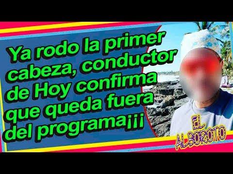 Conductor de Hoy confirma que nueva productora lo deja fuera del programa.