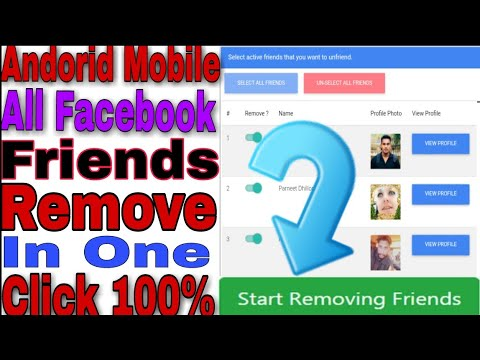 How To Unfriend All Facebook Friends In One Click-Remove All Facebook Friends Andorid Mobile 2019