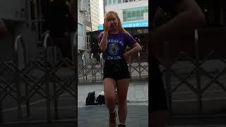 2018.4.25&걷고싶은거리&홍대&유가네닭가비앞&버스킹&여성댄스팀&REDSPARK&by큰별