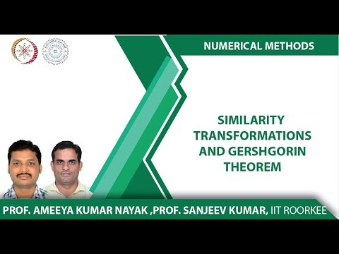 Lecture 12-Similarity Transformations and Gershgorin Theorem