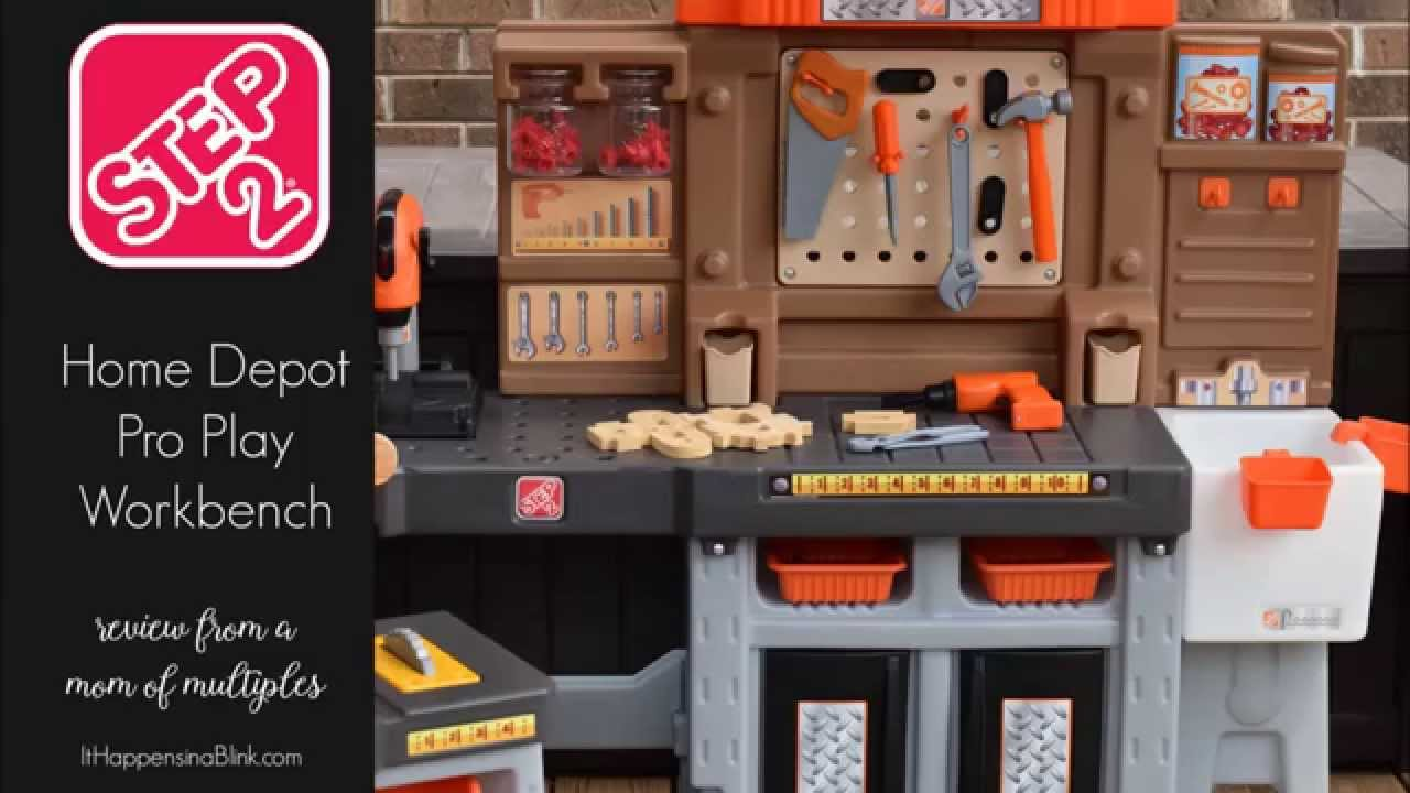 Step2 Home Depot Pro Play Workshop And Utility Bench Youtube