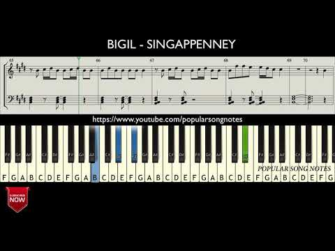 bigil---singappenney-(-how-to-play-)-music-notes
