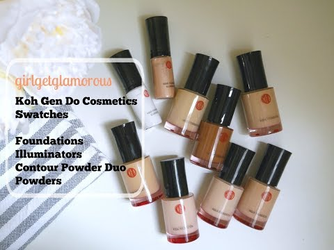 koh-gen-do-cosmetics-|-foundation-*-illuminator-*-powder-*-swatches-|-girlgetglamorous