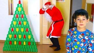 Плохой Дед Мороз. Новогодняя ёлка из стаканчиков и не настоящий Дед Мороз.