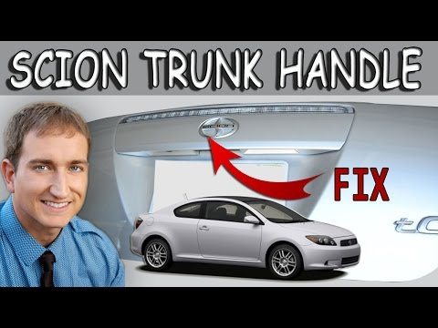 How To Replace The Rear Door Hatch Handle On A Scion Tc 05