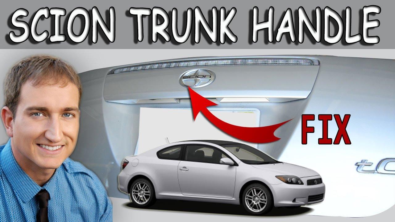 Scion tc trunk hatch handle repair replacement
