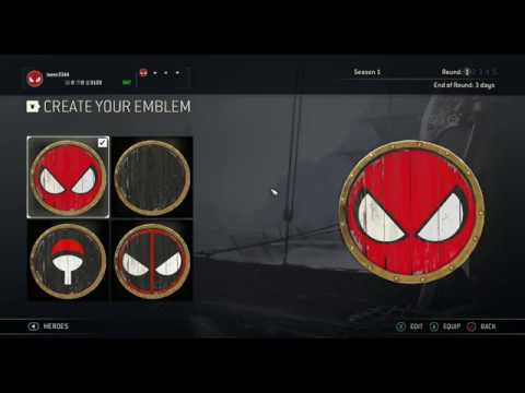 For Honor Easy Spiderman Symbol Emblem Tutorial Youtube