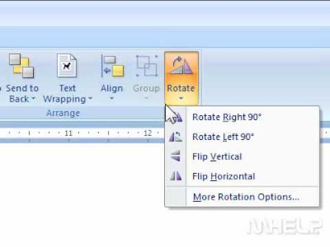 How to rotate an object in word youtube how to rotate an object in word ccuart Choice Image