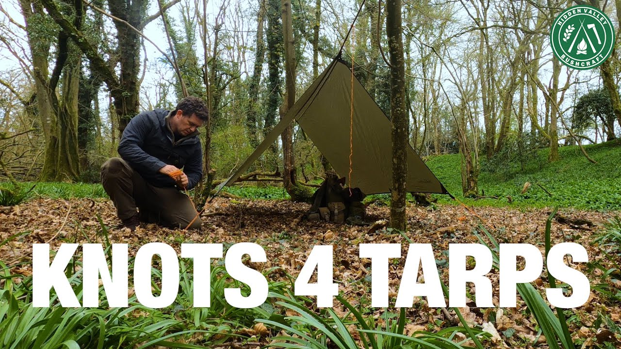 The 3 Essential KNOTS for Tarps   Camping & Bushcraft   Tarpology Essentials