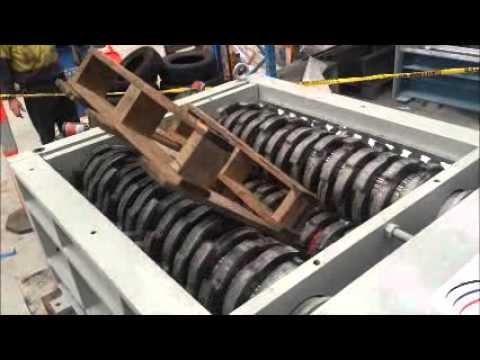 QS50HD Quad Shaft Industrial Shredder - Timber Pallets